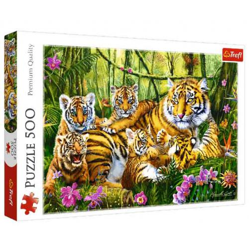 Puzzle 500 pcs Tigers Family