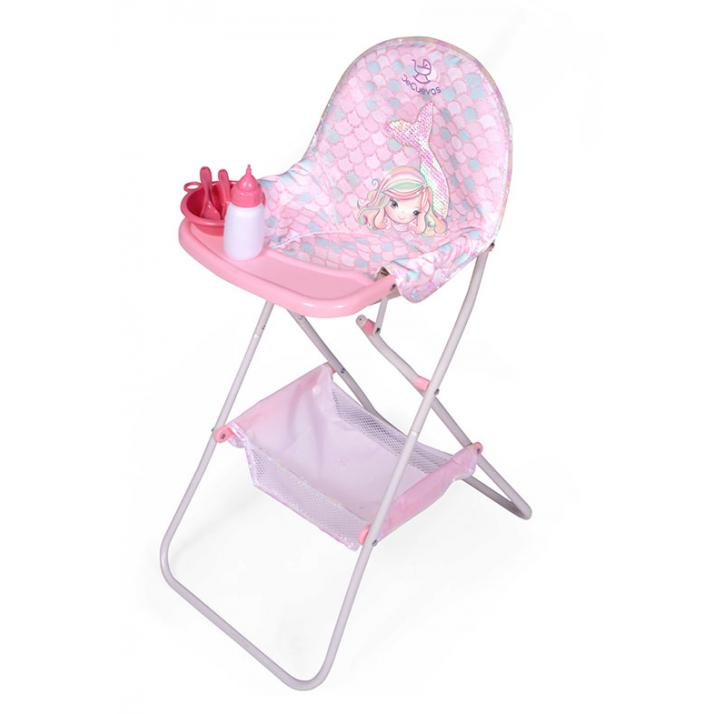 Dolls High Chair with accessories - FOLDING