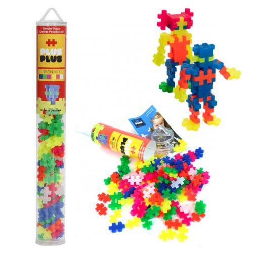 Plus-Plus Neon Mix / 100 pcs Tubo